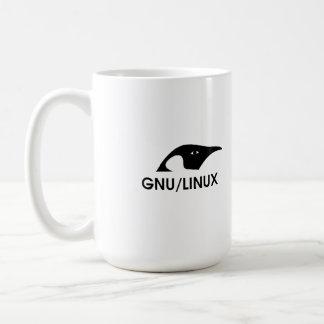 """Linux """"hombres reales utiliza la línea de comando"""" taza básica blanca"""