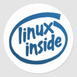 Linux Inside Classic Round Sticker