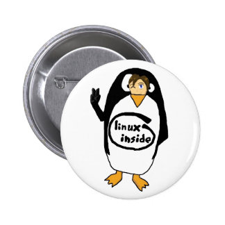 Linux Inside disguise Pinback Button
