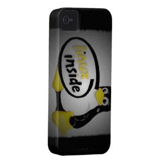 LINUX INSIDE Tux the Linux Penguin Logo Case-Mate iPhone 4 Case