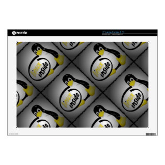 "LINUX INSIDE Tux the Linux Penguin Logo Decals For 17"" Laptops"