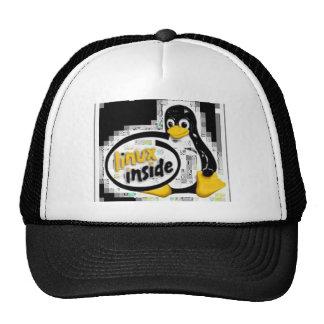 LINUX INSIDE Tux the Linux Penguin Logo Mesh Hat
