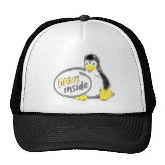 LINUX INSIDE Tux the Linux Penguin Logo Trucker Hat
