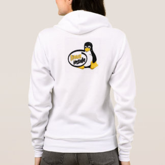 LINUX INSIDE Tux the Linux Penguin Logo Hoodie