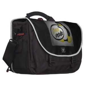 LINUX INSIDE Tux the Linux Penguin Logo Laptop Bag