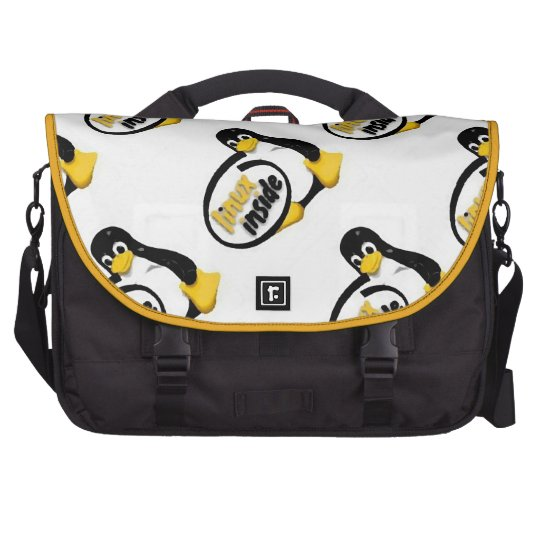 LINUX INSIDE Tux the Linux Penguin Logo Laptop Commuter Bag