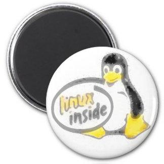 LINUX INSIDE Tux the Linux Penguin Logo Fridge Magnet