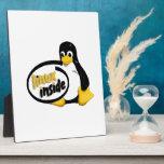 LINUX INSIDE Tux the Linux Penguin Logo Plaque