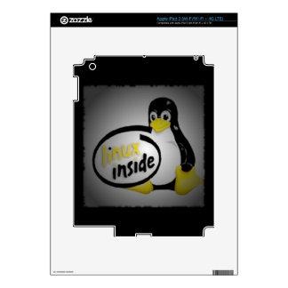 LINUX INSIDE Tux the Linux Penguin Logo iPad 3 Skins