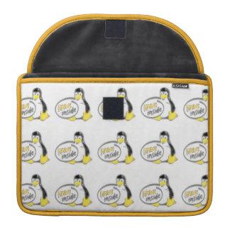 LINUX INSIDE Tux the Linux Penguin Logo Sleeve For MacBooks