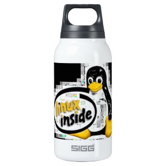 LINUX INSIDE Tux the Linux Penguin Logo Thermos Water Bottle