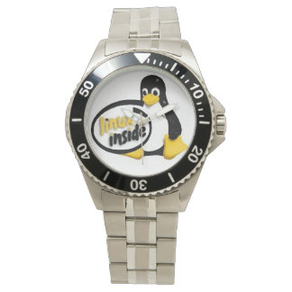 LINUX INSIDE Tux the Linux Penguin Wrist Watch