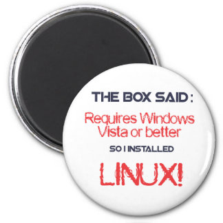 Linux is better 2 inch round magnet