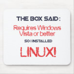 Linux is better mouse pad