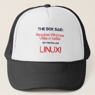 Linux is better trucker hat
