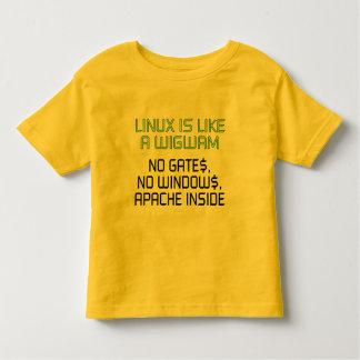 Linux is like a wigwam. No gates, no windows... Toddler T-shirt