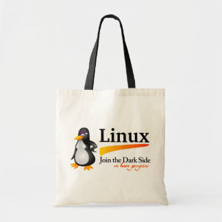 Linux: Join The Dark Side. We have penguins Canvas Bags