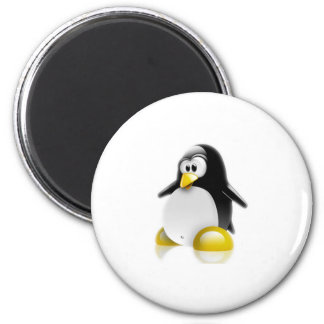 Linux Jump 2 Inch Round Magnet