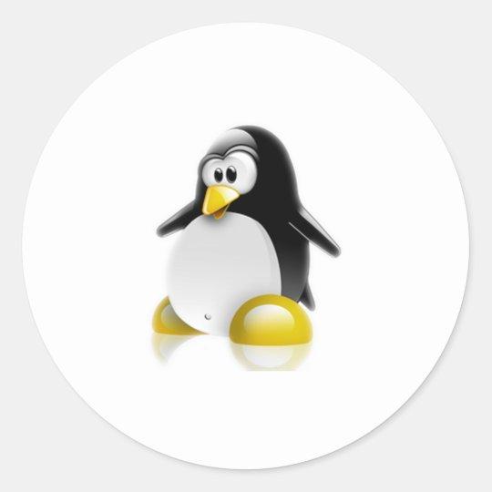 Linux Jump Classic Round Sticker