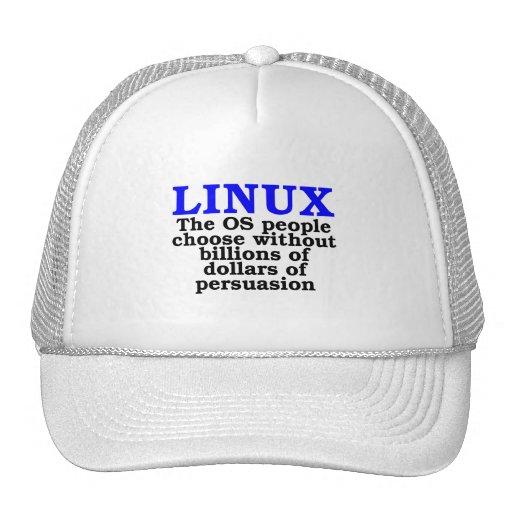 Linux. La gente del OS elige… Gorra