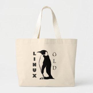 linux large tote bag