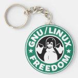linux  libre llavero redondo tipo pin
