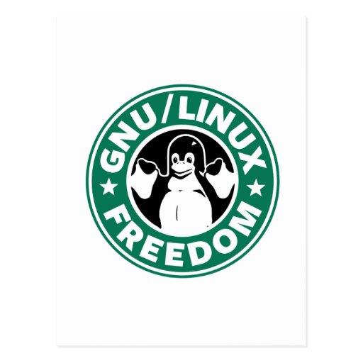 linux  libre postales