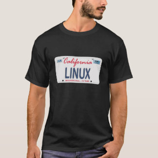 Linux License Plate T-Shirt