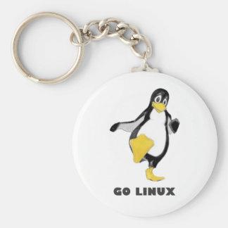 linux llavero redondo tipo pin