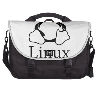 Linux Logo w/ Tux the Linux Penguin Laptop Bag