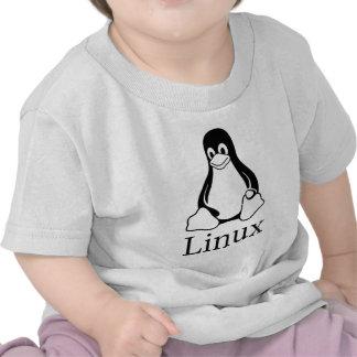 Linux Logo w/ Tux the Linux Penguin T Shirt