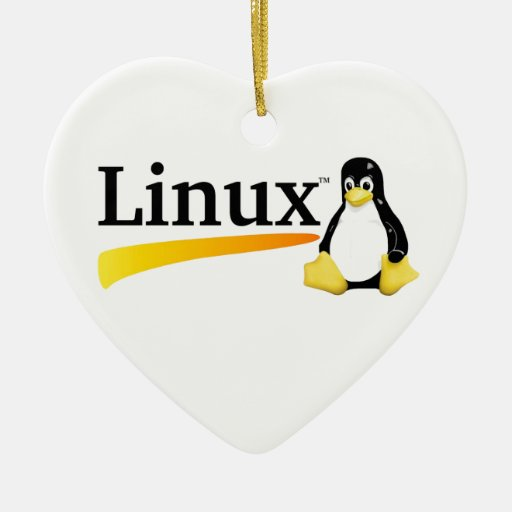 Linux Logo with Tux Products Ceramic Ornament