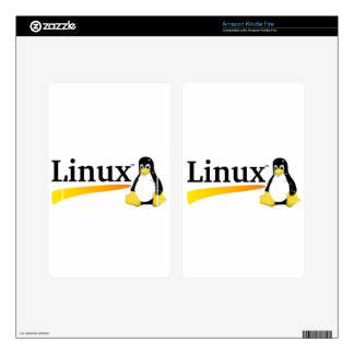 Linux Logo with Tux Products Kindle Fire Skin