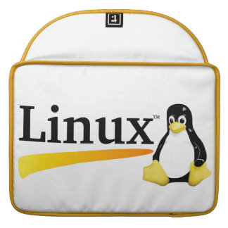Linux Logo with Tux Products Sleeve For MacBook Pro