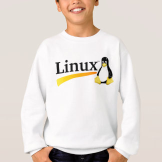 Linux Logo with Tux Products Sweatshirt