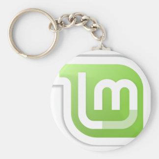 Linux Mint Basic Round Button Keychain
