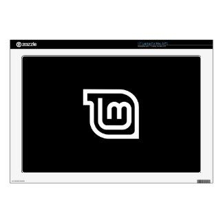 Linux Mint Black & White Decal For Laptop