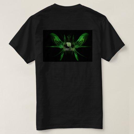 Linux mint dark t shirt zazzle for Mint color t shirt