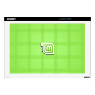 Linux Mint Green Picnic Decals For Laptops
