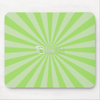 Linux Mint Green StarBurst Mouse Pad