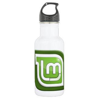 Linux Mint Logo 18oz Water Bottle