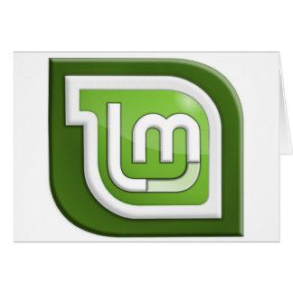 Linux Mint Logo Greeting Card