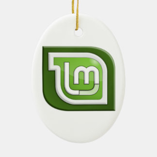 Linux Mint Logo Ceramic Ornament