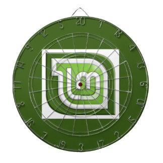Linux Mint Logo Dart Board