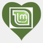 Linux Mint Logo Heart Sticker