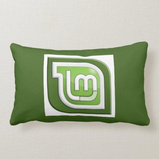 Linux Mint Logo Lumbar Pillow