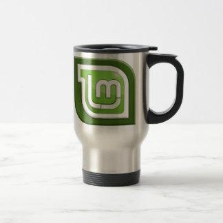 Linux Mint Logo 15 Oz Stainless Steel Travel Mug