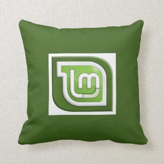 Linux Mint Logo Throw Pillow