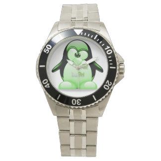 Linux Mint Logo with Tux Wrist Watch
