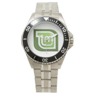 Linux Mint Logo Wrist Watch